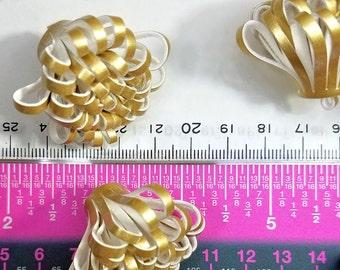 Tassels - Decorative Tassels - 5 Gold Tassels - Looped Tassels - Large Tassel Tassels For Jewelry, Purse Tassel, Key Chain Tassel - TD-0015