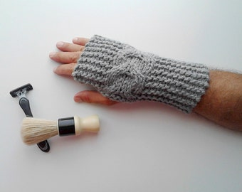 Mens gloves, mens knit gloves, mens fingerless gloves, mens knit fingerless gloves, gloves for men's, mens arm warmers, mens mittens for him