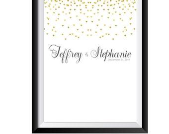 Wedding Guestbook Poster- Wedding Guest Book Alternative- Gold Wedding Guest Book Poster- Wedding Guestbook Alternative- Signature Poster