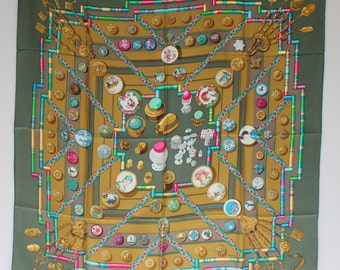 HERMES Scarf  with box Petite Main by Cathy Latham
