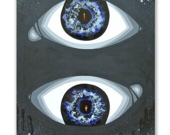 Oasis IV, Original Acrylic and Resin Painting, Handmade by MENGXUAN LIU