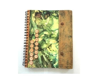 Altered Book Nature Journal, Altered Nature Notebook, Keepsake Journal, Earthy By Design