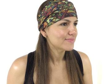 Buy 2 Get 15% Off, Wide Yoga Headband, Women Headband, Boho Headband, Running Headband, Fitness Headband, Turban, Wide Bohemian Headband W05