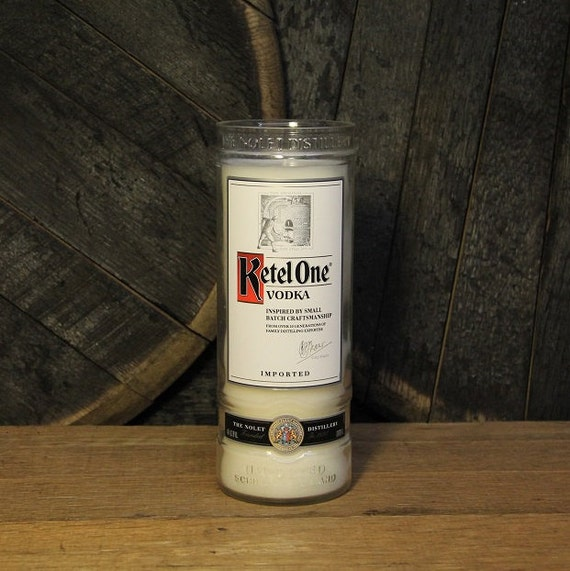 Ketel One Vodka Candle - Recycled Vodka Bottle Soy Candle 1L, Custom Scent and Color, 22oz Soy Wax, Dorm Furniture, Apartment Furniture