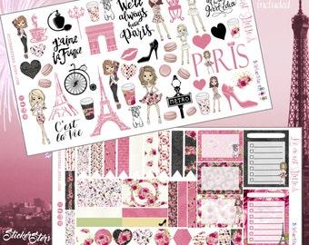 La vie est belle! (Life is Beautiful)  Planner Layout Stickers
