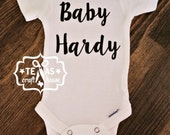 Personalized Unisex Bodysuit Custom Made With Last Name