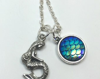 Mermaid Charm Necklace - Mermaid Pendant - Mermaid Jewelry - Gift for Mermaid Lover - Always Be a Mermaid