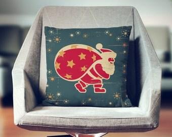 Vintage Christmas Decor | Retro Christmas Decoration | Vintage Christmas Pillow | Retro Christmas Pillow | Santa Pillow |