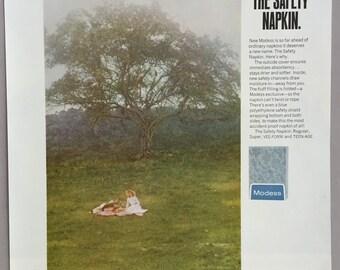 1968 Modess Print Ad