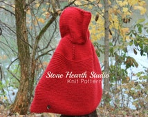 Red Cape Knitting Pattern : Unique knit cape pattern related items Etsy