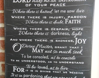 Prayer of St. Francis-Distressed Subway Art Canvas