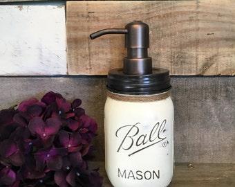Soap Dispenser, Soap Pump, Kitchen or Bathroom Soap Pump, Rustic Decor, Shabby Chic, Bathroom Organization, Sink Storage, Kitchen Storage
