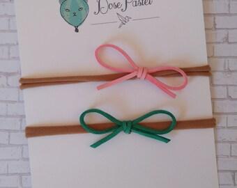 Rose & Jade dainty suede hair bow