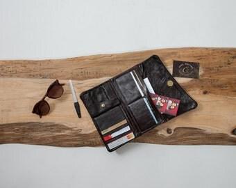 Women's Leather Wallet - Womens Leather Wallet - Leather Purse - Leather Handbag - Leather Clutch Bag - Handmade Leather Wallet