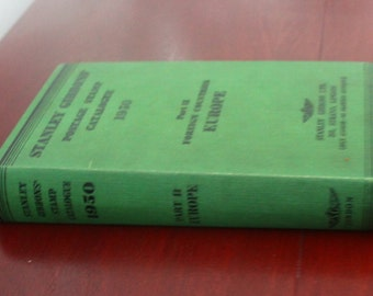 Stanley Gibbons Postage Stamp Catalogue 1950. Part II Foreign Countries Europe. Hardback book.