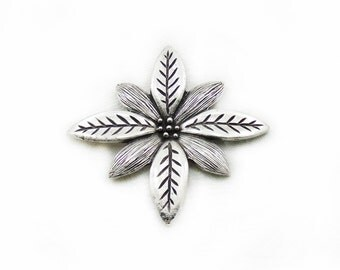 Metal Flower Pendant, Flower Pendant, Large Flower Pendant, Jewelry Making, Craft Supplies, Metal Pendant