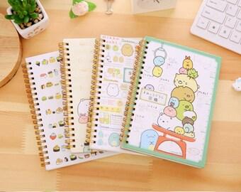 Sumikko Gurashi Notebook, Kawaii, San-X, Corner Creature, Stationary Gift, Cat Book, School Supplies, Spiral, Paper Lined Pages
