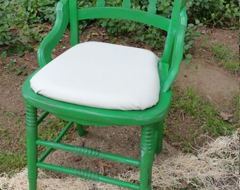 Shabby chic hand painted distressed side chair