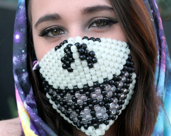 Glow in the Dark Smiley Face LED Kandi Mask