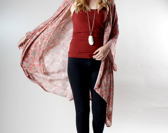 Boho Kimono, Southwestern Print, Slouchy Clothes, Coverup, Swimsuit Cover up, Kimono Cover up, Oversized Kimono, Bohemian Kimono, Cover up
