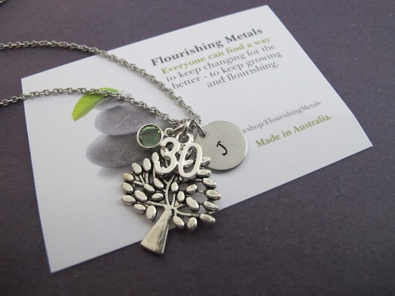 30th 40th 50th Birthday Gift For Her Tree Of Life Charm