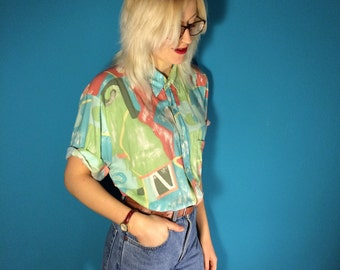 Retro Patterned Shirt