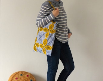 Tote bag geometric wax - African fabric