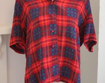Silk tartan shirt