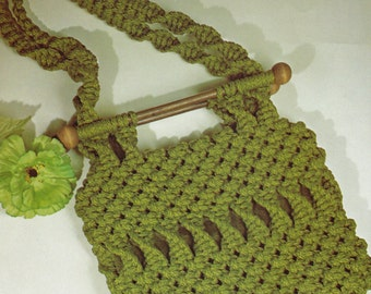 "1970's ""Greener Pastures"" MACRAME Purse Pattern - Immediate PDF Digital Download"