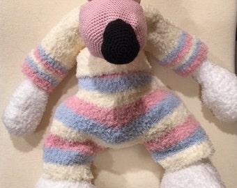 Crochet fuzzy stuffed bear - made to order