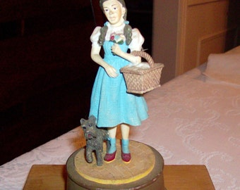 Wizard of Oz Music Box Dorothy and Toto Figurine FIRST EDITION 1996 Dave Grossman Creations Plays Off To See The Wizard Music Box Gift SALE