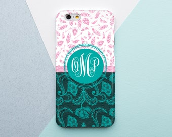 Monogram Case Personalized Case Monogram iPhone Case Custom Case Monogrammed Case Chevron Case Monogram iPhone 4S Flower iPhone SE Case
