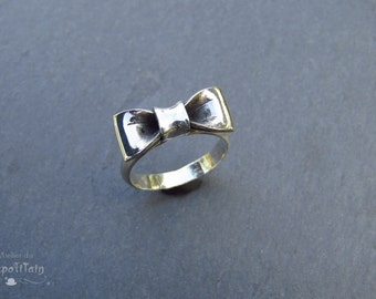 """Ring bow-tie """"The class"""" (black)"""
