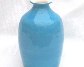 Blue Flask - Ceramic Flask - Pottery Flask