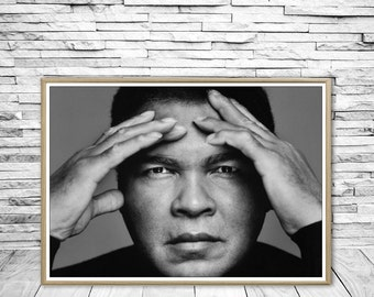 Muhammad Ali, Muhammad Ali print, Muhammad Ali photography, black and white print, wall art print, boxing, Cassius Marcellus Clay.