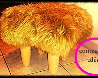 Fluffy, small warm stool