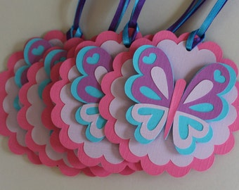 Butterfly Favor Tags, Butterfly Birthday Party, Butterfly Shower