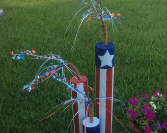 Wooden fireworks decor