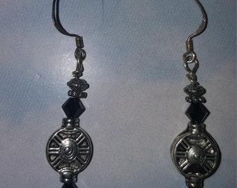 Tibetian Silver Earrings