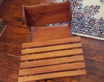 Wooden School Chair Etsy