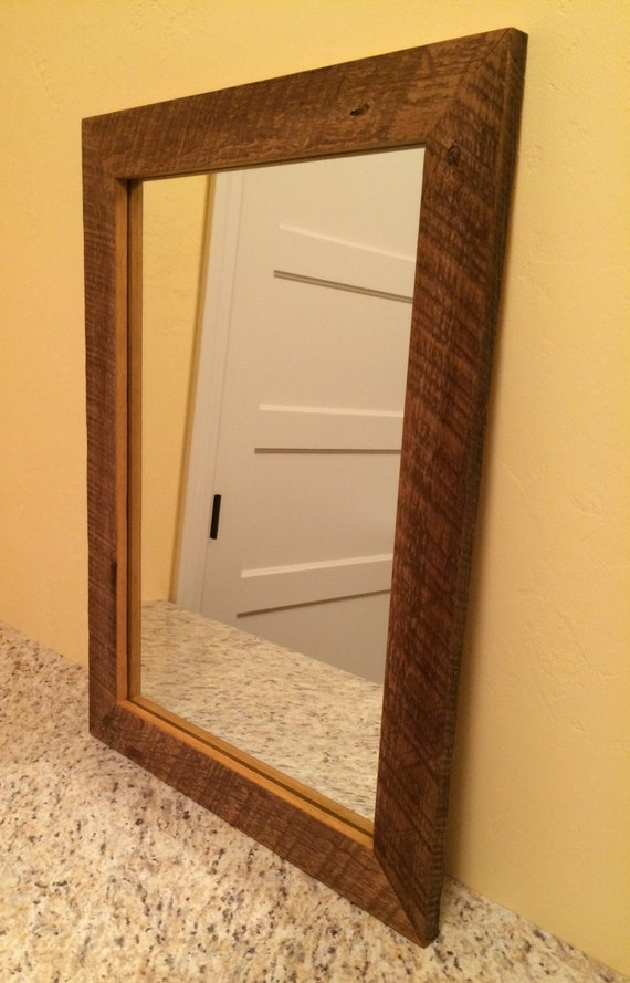 Items similar to reclaimed barn board mirror frame custom for Types of mirror frames