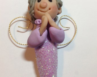 Polymer Clay Hanging Sparkle Angel