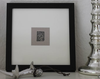 "Hand-cut print ""Leaves"""