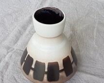 Impressive Dumler and Breiden Vase, West German Pottery, 1960s ceramics, 128 15, Mid Century Vintage piece.
