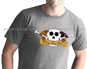 Dachshund T-Shirt Wiener Dog Dad Skull Tattoo