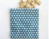 Reusable Snack Bag, Sandwich Bag with Typewriter Keys on Teal, Zero Waste Lunch for School or Work