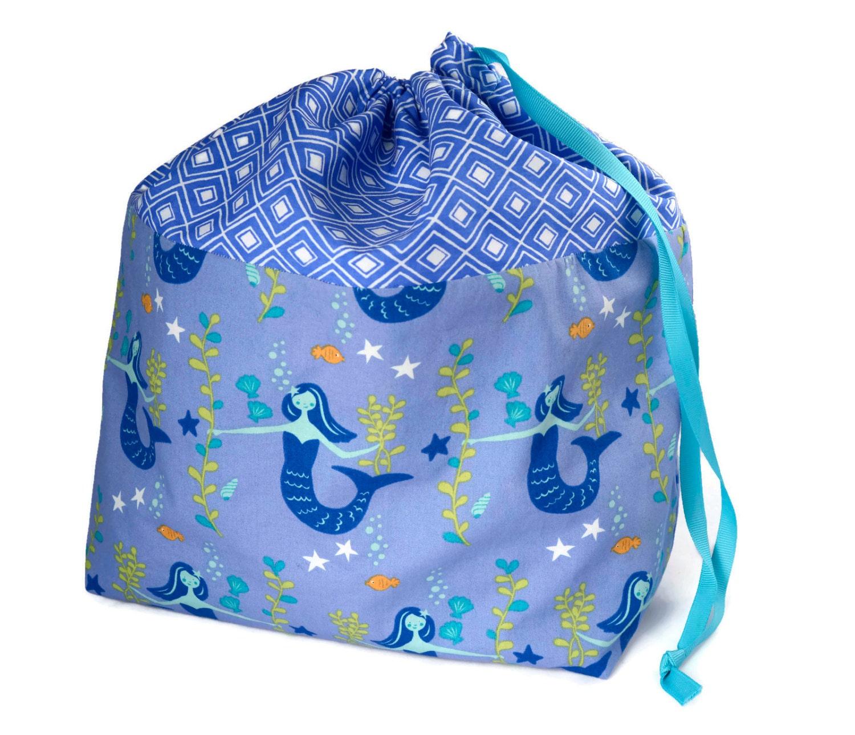 large knitting bag knitting project bag