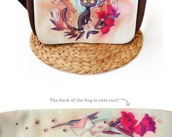 Jiji from Kiki's Delivery Service Studio Ghibli Messenger Bag