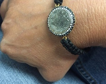 Ottoman Coin Crystal Coin Bracelet