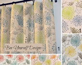 "Pair of Curtain Panels with Rod Pockets - Irish Daisy Linen Laken - 25"" or 50"" wide - You choose color and length"